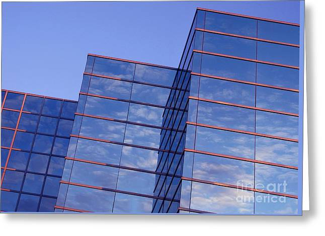 Abstract Nature Greeting Cards - Cloudscape in Reverse Greeting Card by Ann Horn