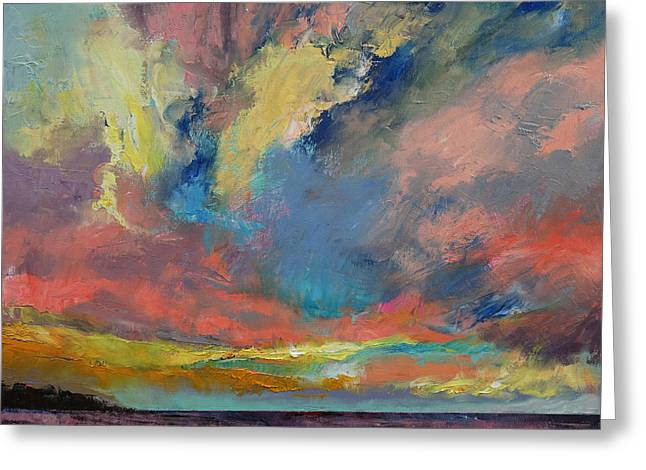 Cloudscape Greeting Card by Michael Creese