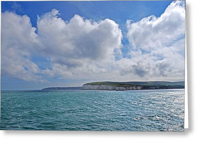 Wave Image Greeting Cards - Cloudscape Over the White cliffs of Dover Greeting Card by Gill Billington