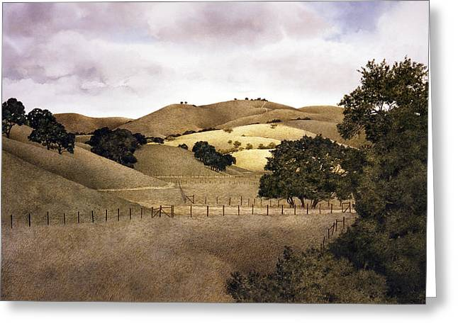 Carmel Greeting Cards - Cloudy Afternoon Greeting Card by Tom Wooldridge