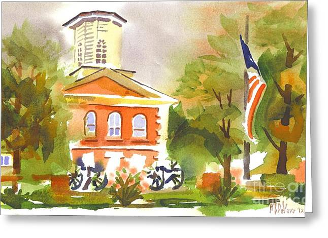 Cloudy Day At The Courthouse Greeting Card by Kip DeVore
