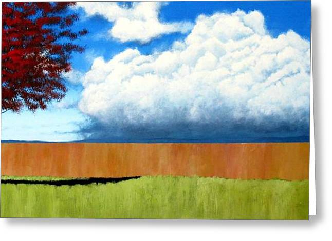 Sofa Size Greeting Cards - Cloudy Day Greeting Card by Michael Dillon