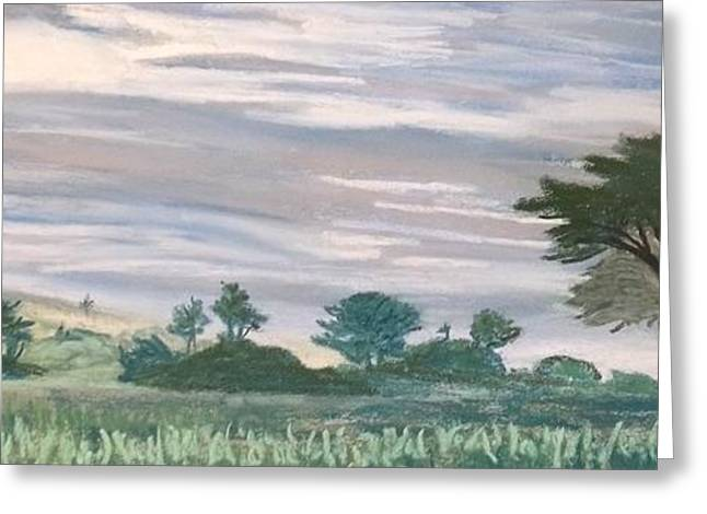 Cloudy Pastels Greeting Cards - Cloudy day on game preserve in Zimbabwe Greeting Card by Frank Giordano