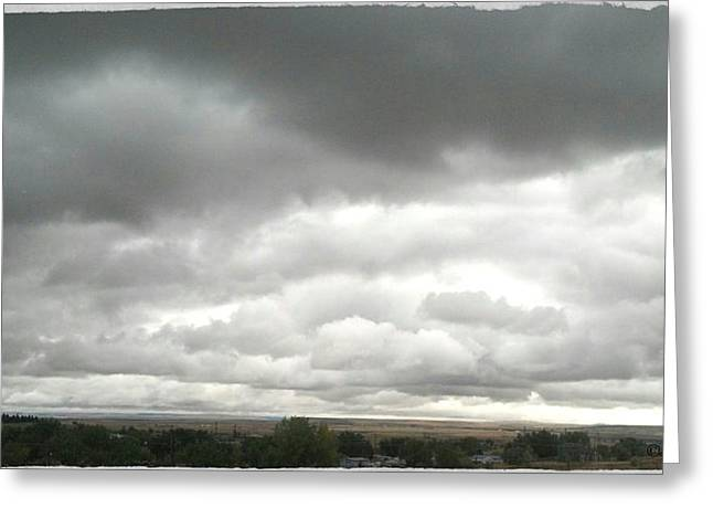 Cellphone Digital Art Greeting Cards - Cloudy Day Greeting Card by Susan Kinney