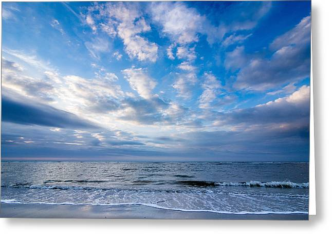 Inseln Greeting Cards - Cloudy evening on the beach of Langeoog Island Greeting Card by Martin Liebermann