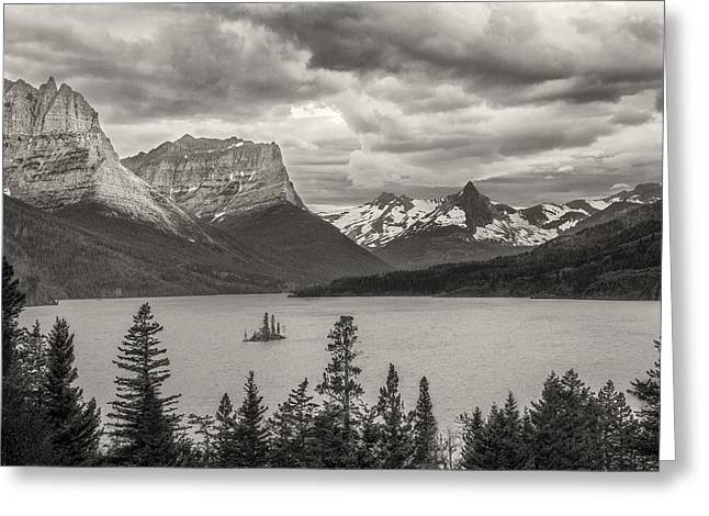 Cloudy Mountain Top Greeting Card by Jon Glaser