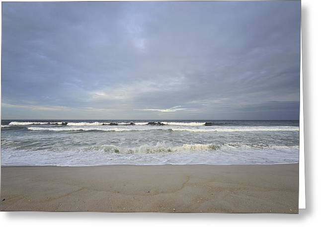 Seaside Heights Greeting Cards - Cloudy Skies Greeting Card by Terry DeLuco
