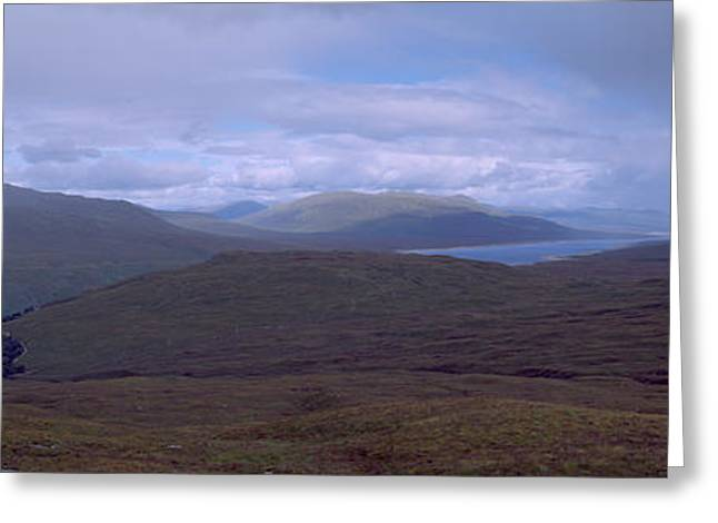 Foggy Day Greeting Cards - Cloudy Sky Over Hills, Blackwater Greeting Card by Panoramic Images