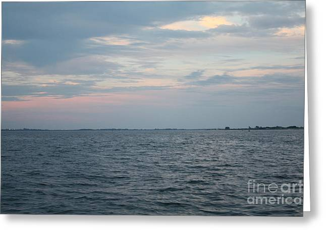 Sunset Framed Prints Greeting Cards - Cloudy Summertime Sunset Greeting Card by John Telfer