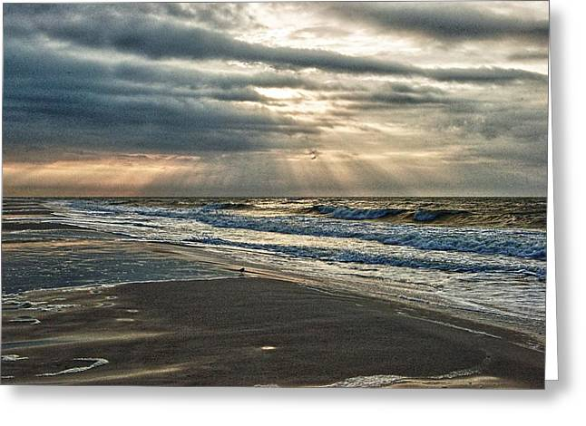 Cloudy Sunrise Greeting Card by Michael Thomas