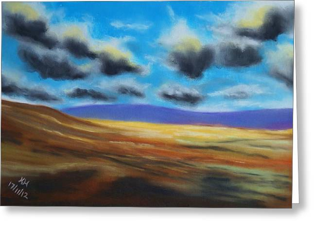 Cloudy Pastels Greeting Cards - Cloudy Valley Greeting Card by Kevin Hubbard