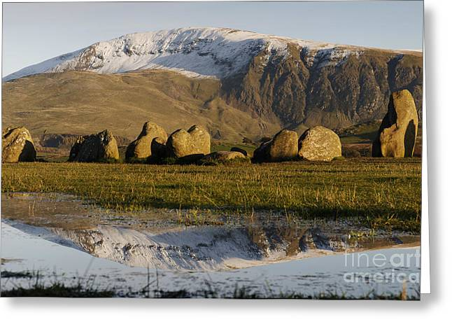 Historic England Greeting Cards - Clough Head and Castlerigg Stone Circle Greeting Card by Colin Woods