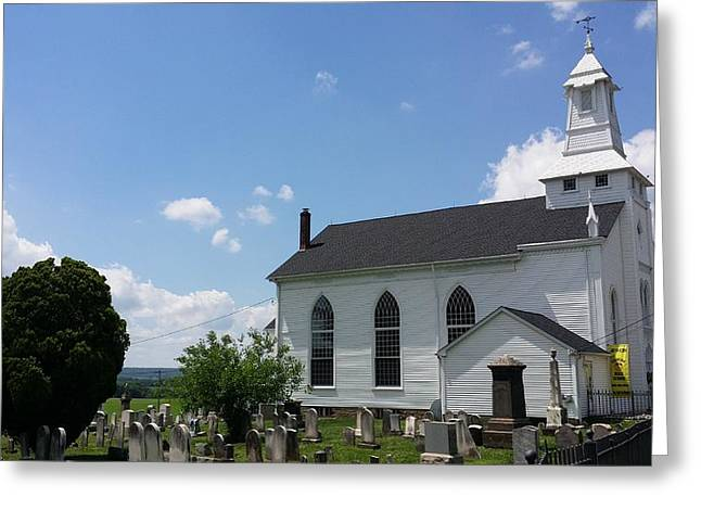 Streetview Greeting Cards - Clover Hill Worship Wide Greeting Card by Mark Victors