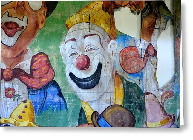 Clown Art Greeting Cards - Clown art detail 1 Greeting Card by David Lee Thompson