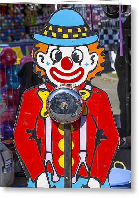 Amusements Greeting Cards - Clown Bell Game Greeting Card by Garry Gay