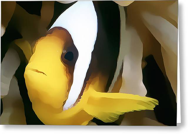 Undersea Photography Greeting Cards - Clown Fish 3 Greeting Card by Roy Pedersen