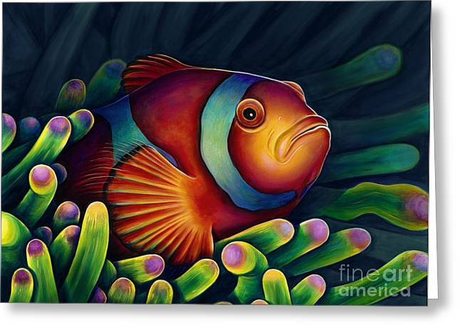 Clown Greeting Cards - Clown Fish Greeting Card by Scott Spillman