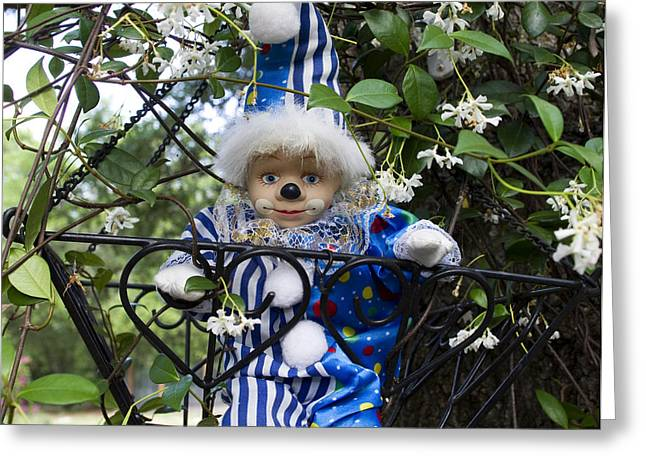 Clown Outdoors 4 Greeting Card by William Patrick