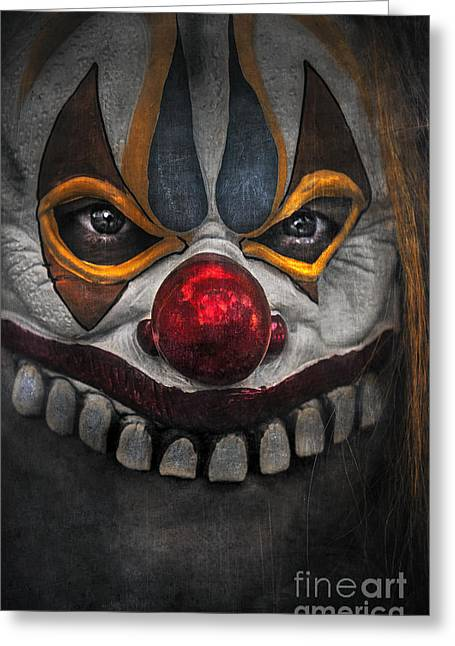 Undercover Greeting Cards - Clown Greeting Card by Svetlana Sewell