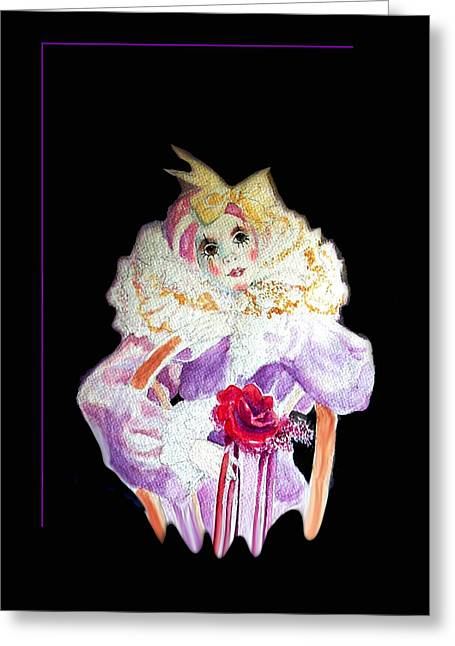Thinking Of You Greeting Cards - Clown Thinking Blank for You Greeting Card by Michael Shone SR