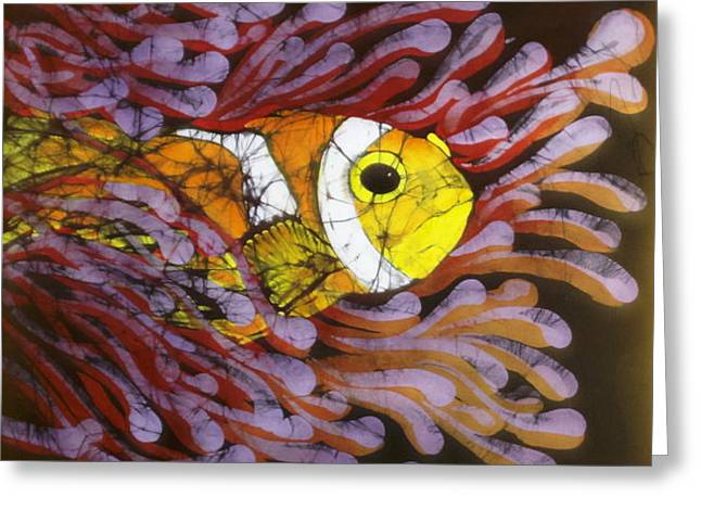 Orange Tapestries - Textiles Greeting Cards - Clownfish I  Greeting Card by Kay Shaffer