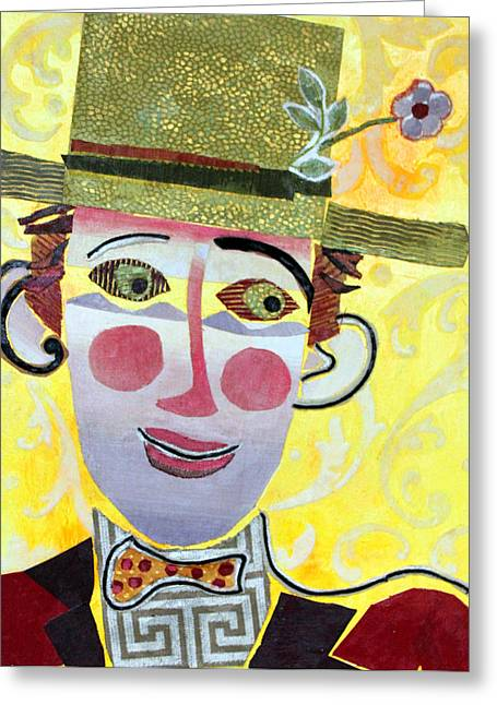 Recently Sold -  - Diane Fine Greeting Cards - Clowning Around Greeting Card by Diane Fine