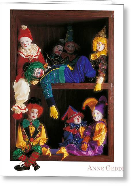 Children Greeting Cards - Clowns Greeting Card by Anne Geddes