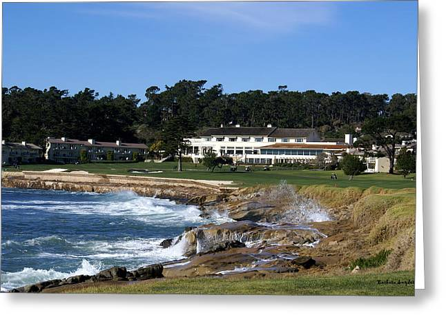 Clubhouse Greeting Cards - Clubhouse at Pebble Beach Greeting Card by Barbara Snyder