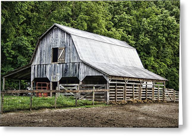 Boone County Greeting Cards - Clubhouse Road Barn Greeting Card by Cricket Hackmann