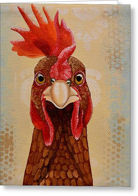 Clucking Greeting Cards - Cluck Greeting Card by Laura Wiesch