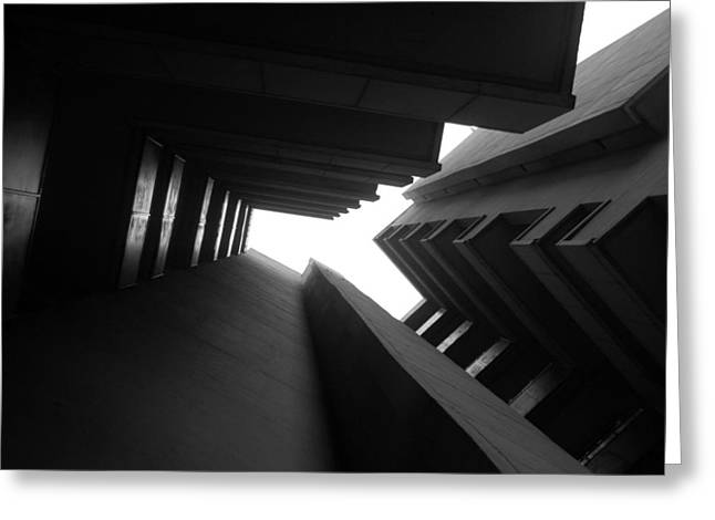 Brutalism Greeting Cards - Cluster Block - Denys Lasdun Greeting Card by Peter Cassidy