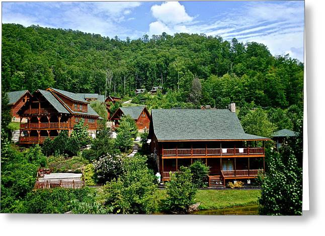 Marvelous View Greeting Cards - Cluster Cottages Greeting Card by Frozen in Time Fine Art Photography