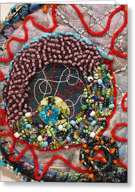 Organic Tapestries - Textiles Greeting Cards - Cluster I detail Greeting Card by Christine Sauer
