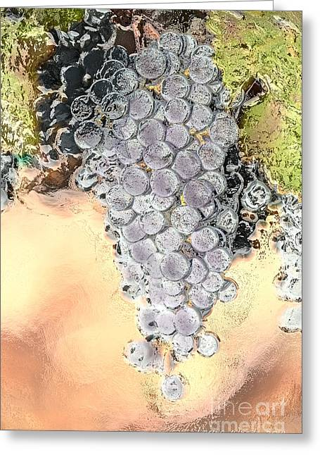 Laura Wrede Greeting Cards - Cluster of Grapes Greeting Card by Artist and Photographer Laura Wrede