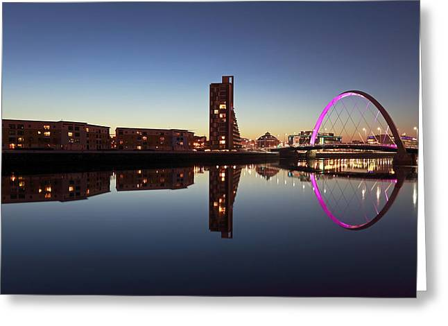 Scottish Scenic Greeting Cards - Clyde arc bridge Greeting Card by Grant Glendinning