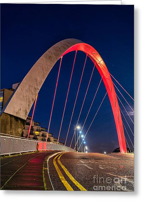 Clyde Arc Glasgow  Greeting Card by John Farnan