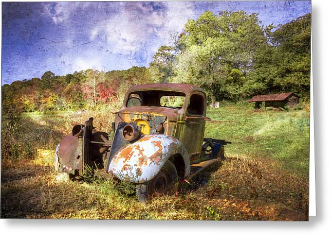 Tennessee Farm Greeting Cards - Clydes Ride Greeting Card by Debra and Dave Vanderlaan