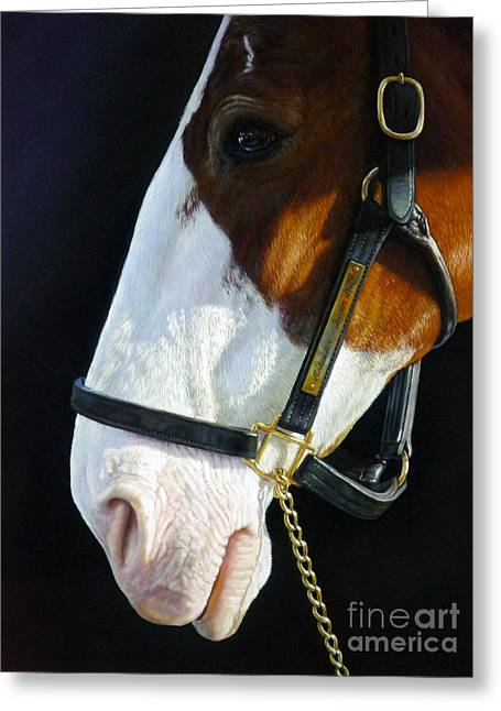 Beer Pastels Greeting Cards - Clydesdale Greeting Card by Lisa  Ober