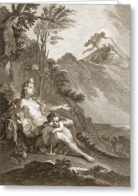 Ovid Greeting Cards - Clytia Turned Into A Turnesole, 1731 Greeting Card by Bernard Picart