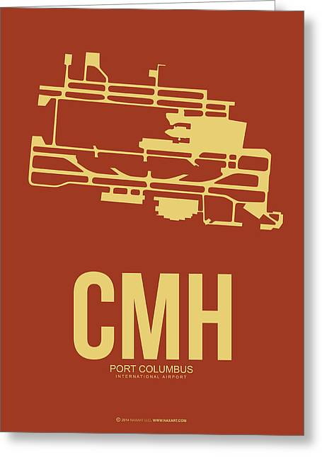 Columbus Greeting Cards - CMH Columbus Airport Poster 1 Greeting Card by Naxart Studio