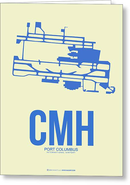 Columbus Greeting Cards - CMH Columbus Airport Poster 2 Greeting Card by Naxart Studio