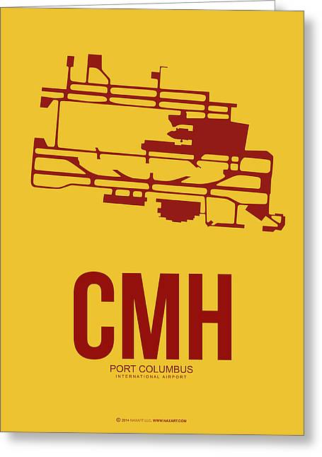 Inner Mixed Media Greeting Cards - CMH Columbus Airport Poster 3 Greeting Card by Naxart Studio
