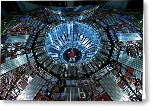 Cms Detector Greeting Card by Fons Rademakers/cern