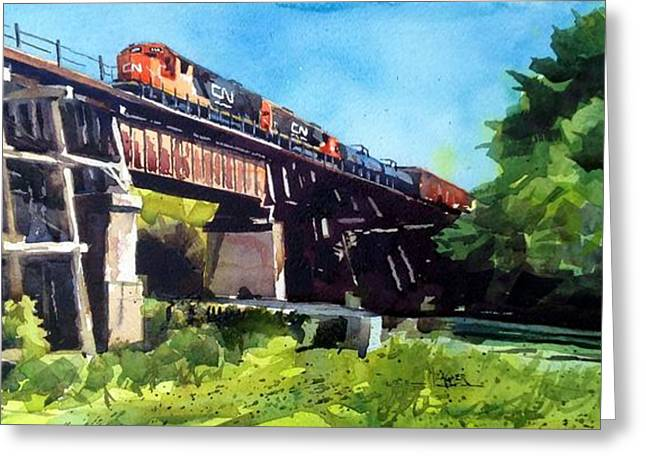 Spencer Meagher Greeting Cards - CN Northbound Greeting Card by Spencer Meagher