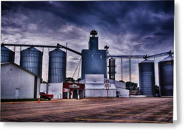 Feed Mill Mixed Media Greeting Cards - Co-Op 2 Greeting Card by Todd and candice Dailey