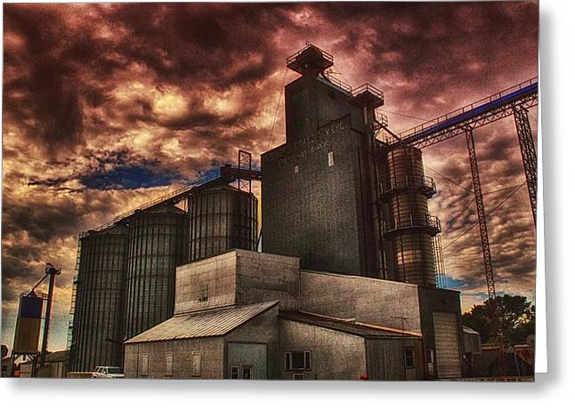 Feed Mill Mixed Media Greeting Cards - Co-Op Greeting Card by Todd and candice Dailey