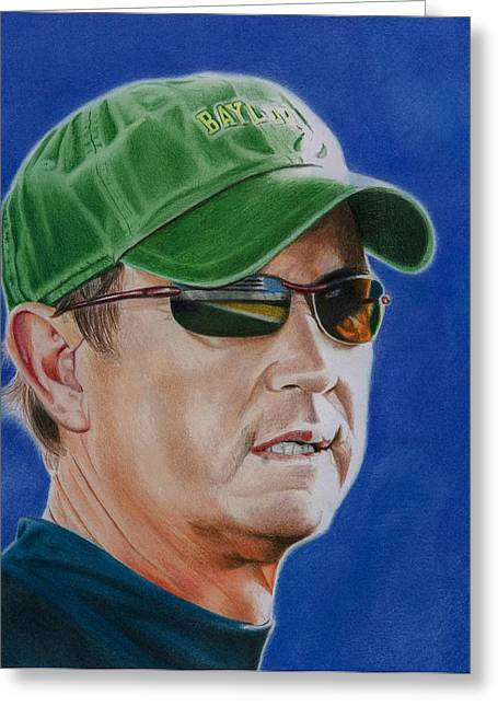 College Drawings Greeting Cards - Coach Art Briles Greeting Card by Brian Broadway