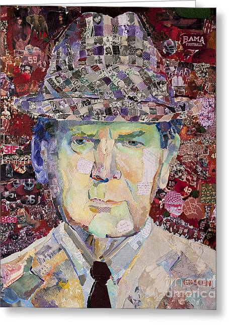 Coach Paul Bryant Greeting Card by Alaina Enslen