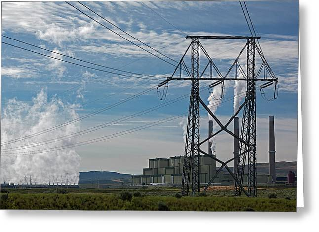 Coal-burning Power Station Greeting Card by Jim West