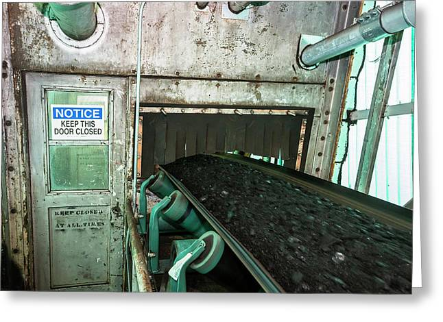 Coal-fired Power Station Conveyor Greeting Card by Jim West